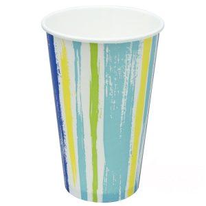 Papirna čaša 1-sl 400 ml d=90 mm Strips za hladna pića (50 kom/pak)