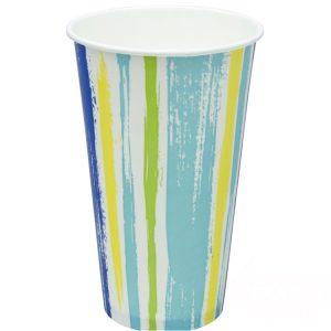 Čaša papirnata jednoslojna 500 (650) ml d=90mm za hladna pića Pruge (50 kom/pak)
