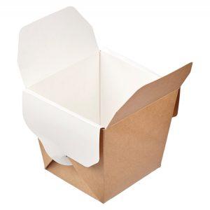 Kartonska kutija ECO Noodles 460 ml 65х80х100 mm pravougaono dno kraft (56 kom/pak)