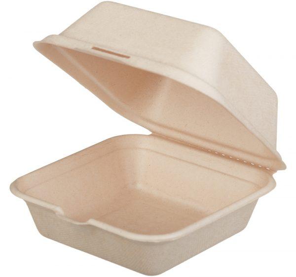 Kutija za hamburger preklopna TF Tambien ECO 156x158x88mm, Kraft (50 kom/pak)