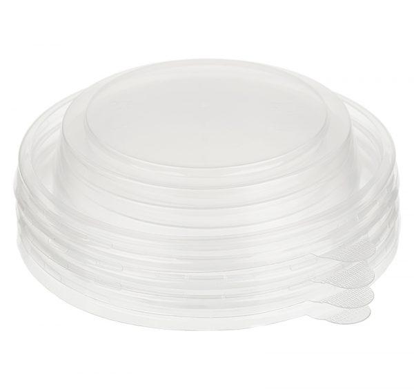 Papirnata posuda sa poklopcem Tambien ECO D=110 mm, h=60 mm, 380 ml, gofriran kraft, tačkasta, 50 kom (komplet)