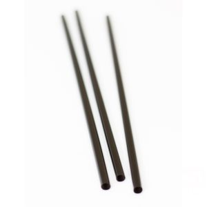 Slamčice ravne PP l = 25 cm d = 8 mm crna (135 kom)