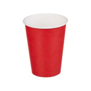 Čaša papirnata jednoslojna 300 (364) ml crvena
