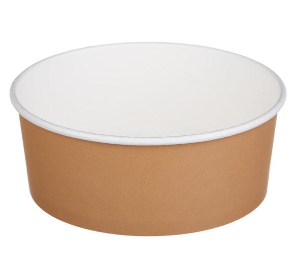 Papirnata posuda sa poklopcem Tambien 1090 ml smeđa, 100 kom (komplet)