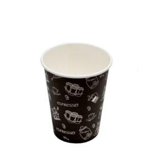 Čaša papirnata jednoslojna 300 (364) ml crna