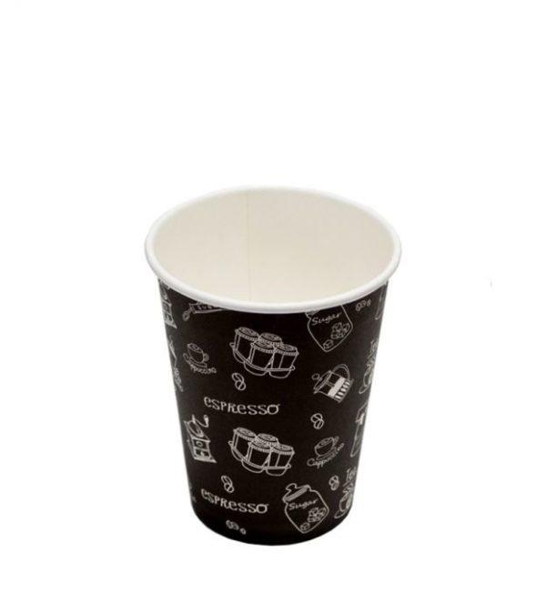 Papirna čaša 1-sl 300 ml d=90 mm Complement Black (50 kom/pak)