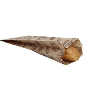 Kesa papirnata sa slikom hleba 100 x 50 x 320 mm (500 kom/pak)