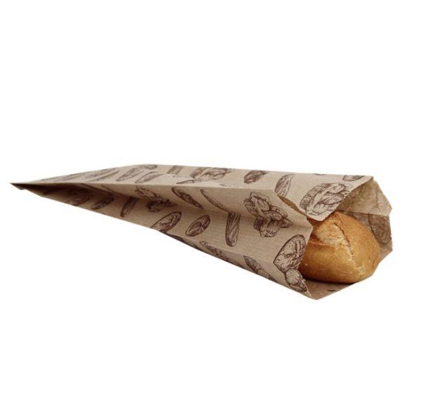 Papirna kesa sa slikom hleba 100x50x320 mm (500 kom/pak)