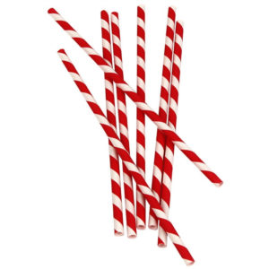 Papirnate slamke Lollipop l = 210 mm d = 6 mm (25 kom)