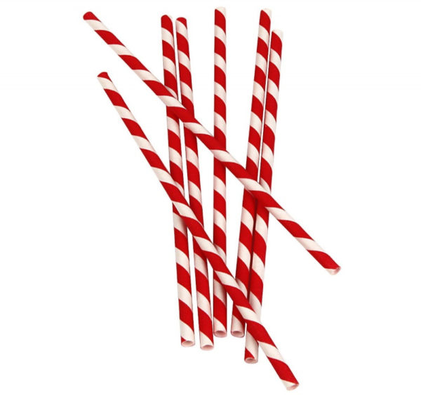Papirne slamčice Lollipop l=210 mm d=6 mm (25 kom)
