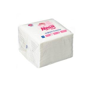 Papirnate salvete NEGA 1-slojne 24 x 24 cm, bele 100 salveta/pak