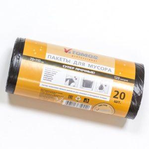 Kesa za smeće  120 L PE crna Tomos (20 kom/rola)