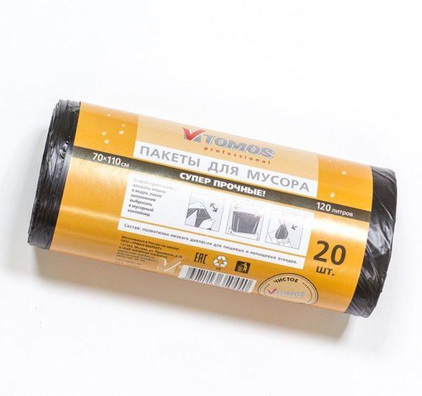 Kesa za otpad 120l crna (20 kom/rola) ToMoS