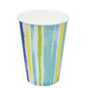 Čaša papirnata jednoslojna 300 (364)ml d=90 mm za hladna pića Pruge