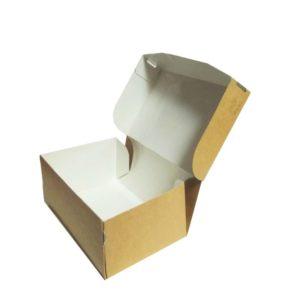Posuda papirnata  ECO TABOX N/W bez prozora 150x100x70 mm 1200 ml, Kraft (250 kom/pak)