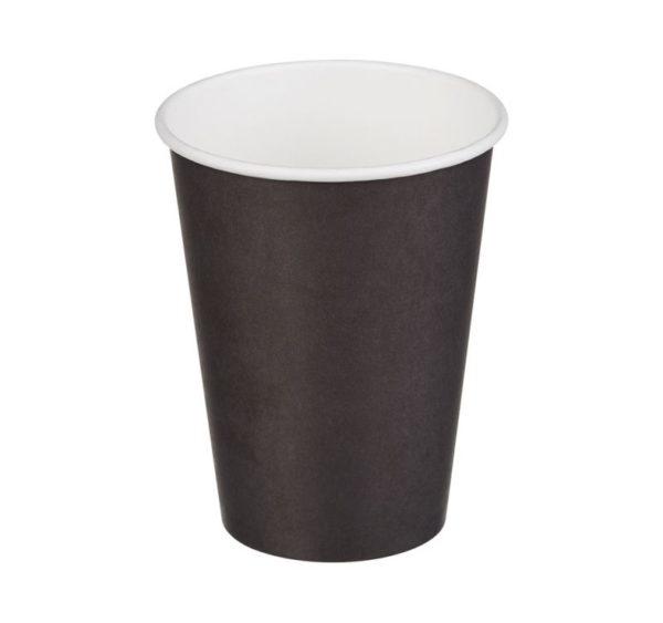 Čaša papirnata jednoslojna 370 (420) ml d=90mm za topla pića, crna