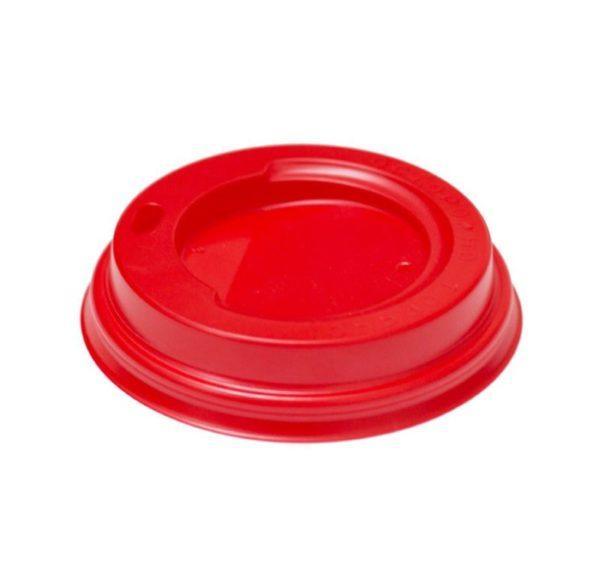 Poklopac PS sa bočnim otvorom d=90 mm crveni (100 kom/pak)