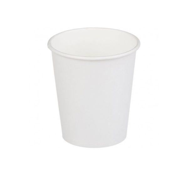 Čaša papirnata jednoslojna 250 (280) ml d=80mm za topla pića bela