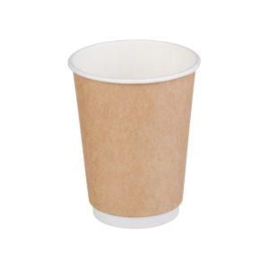 Čaša papirnata dvoslojna 300 (430) ml d=90mm kraft