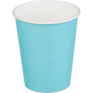 Čaša papirnata jednoslojna 250 (273) ml d=80mm za topla pića tirkizna