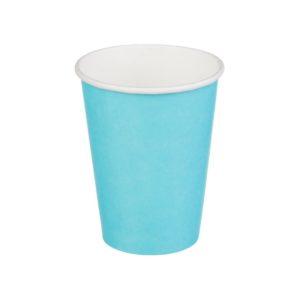 Čaša papirnata jednoslojna 300 (364) ml d=90mm za topla pića tirkizna