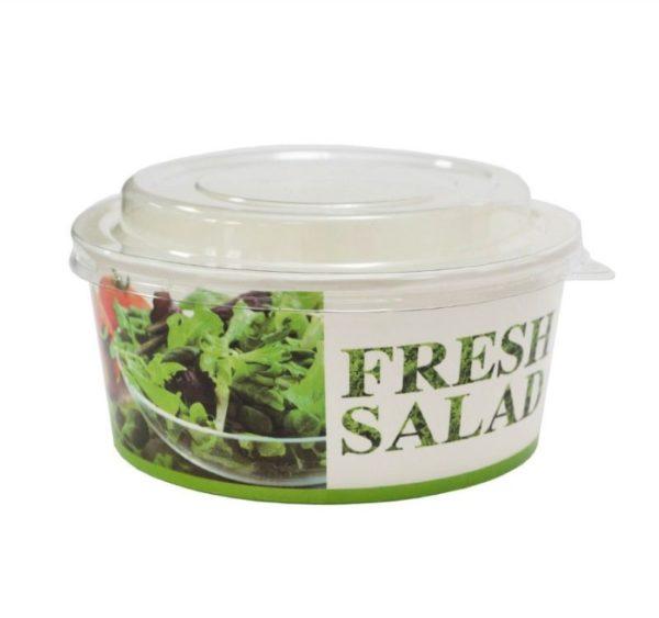Posuda papirnata 750 ml d = 146 mm, h = 65 mm Fresh salad za salatu (50 kom/pak)