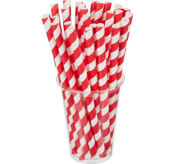 Slamčice Tambien ECO papirnate za jednokratnu upotrebu 210×10 Lollipop 100kom/pak