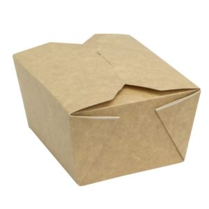 Posuda papirnata Fold Box 950 ml 170x135x50 mm, kraft (400 kom/pak)
