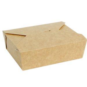 Posuda papirnata Fold Box 600 ml 130x110x65 mm, kraft