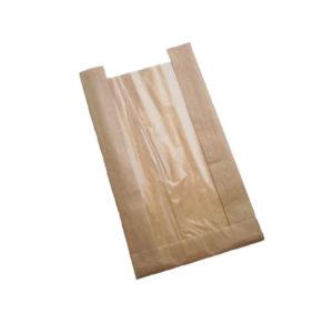 Papirna kesa sa prozorom 130(50)х50х300 kraft (1500 kom/pak)
