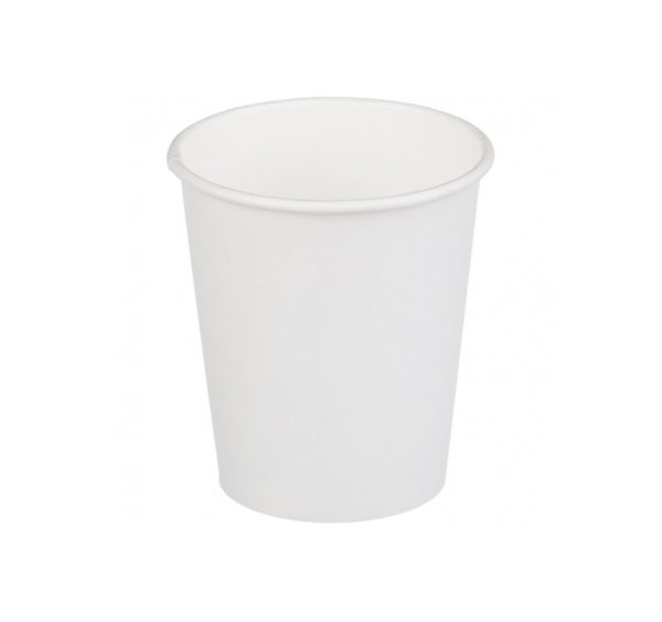 Čaša papirnata jednoslojna 250 (275) ml d=80mm za topla pića bela