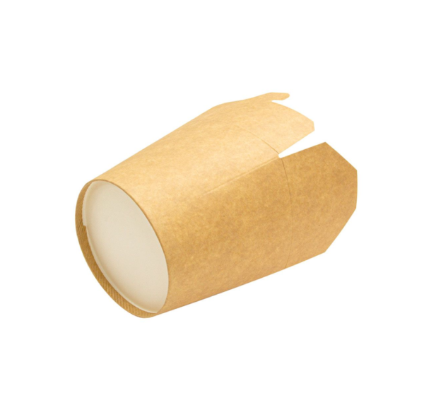 Posuda od papira PKR 138x94x98,4mm 700ml Kraft, okruglo dno (50 kom/pak)