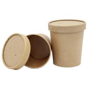 Posuda papirnata za supu Tambien ECO 340 ml d-70 mm, h-85 mm, Kraft