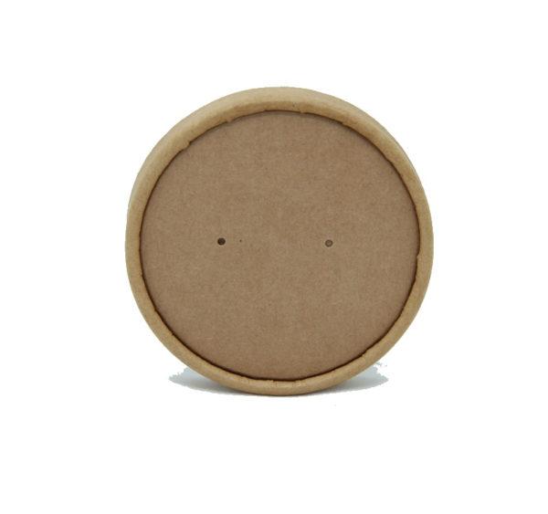 Poklopac papirnati za supu Tambien ECO-d 90 mm, kraft (25 kom/pak)