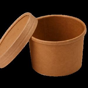 Posoda papirnata za juho Tambien ECO 240 ml d-90mm, h-60mm, kraft (25 kom/pak)