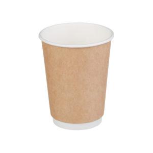 Čaša papirnata jednoslojna, 250 / 273 ml, d = 80 mm za vruče, kraft (60 kom/pak)