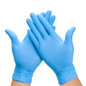 Rukavice nitril 100 kos / Pakiranje plave L