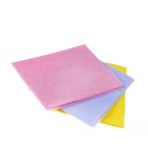 Krpa iz viskoze univerzalna za suho in mokro čiščenje 30x38cm roza 3kos/pak