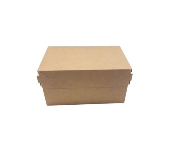 Kutija za torte, desert ECO CAKE 150x100x85mm, 1200ml, kraft (250 kom/pak)