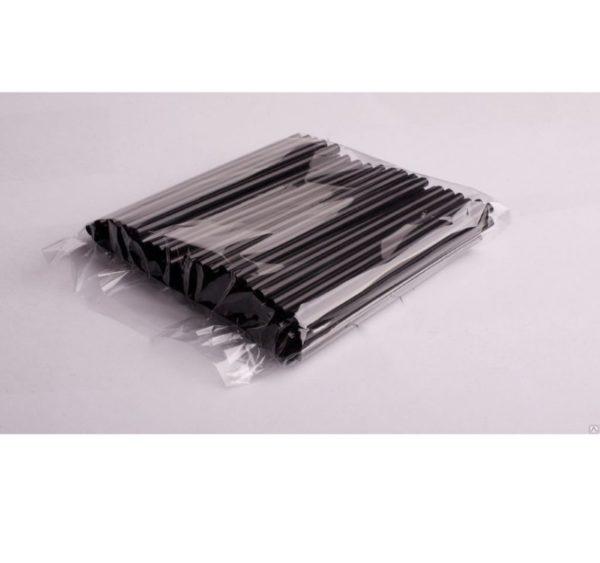Slamčice za koktel ravne d=8 mm l=210 mm crne 250 kom/pak