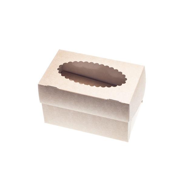 Posuda za muffine s prozorom 100x160x100mm, Kraft (1000 kom/pak)