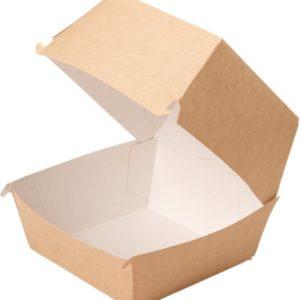 Kutija za hamburger ECO BURGER XL 130x130x110 mm, Kraft