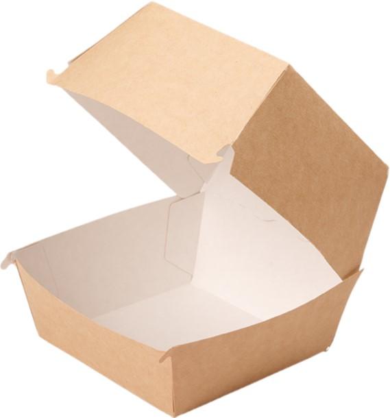 Kutija za hamburger ECO BURGER XL 130x130x110 mm, Kraft (150 kom/pak)