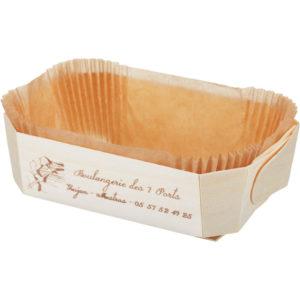 Posoda za peko lesena za enkratno uporabo DUC 175x110x60mm (100 kom/pak)