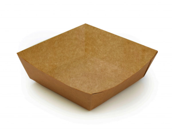 Poslužaonik papirnati ECO TRAY Pure Kraft 550ml 110x110x42mm, Kraft (300 kom/pak)