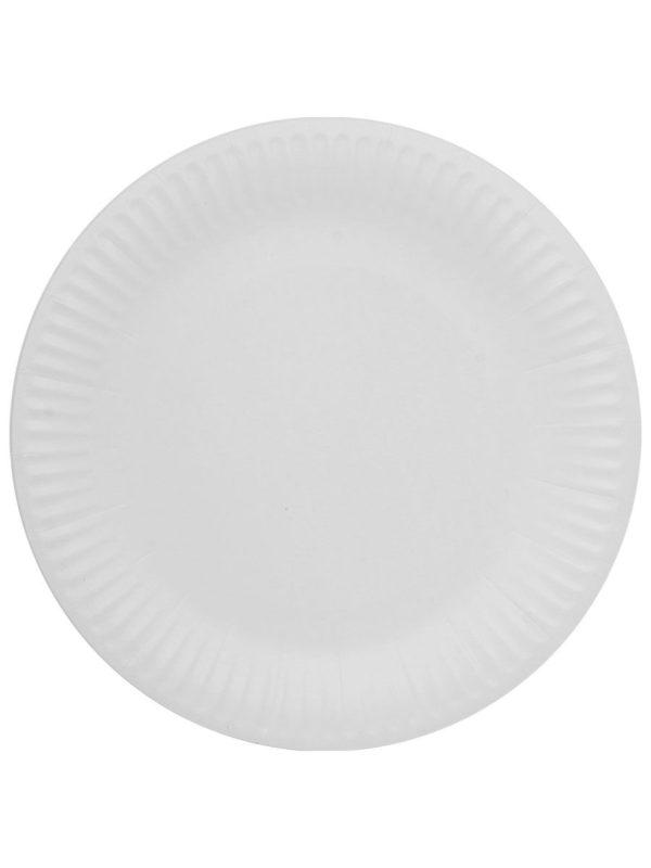 Papirnati tanjir d = 230 mm Snack Plate, beli laminiran (100 kom/pak)