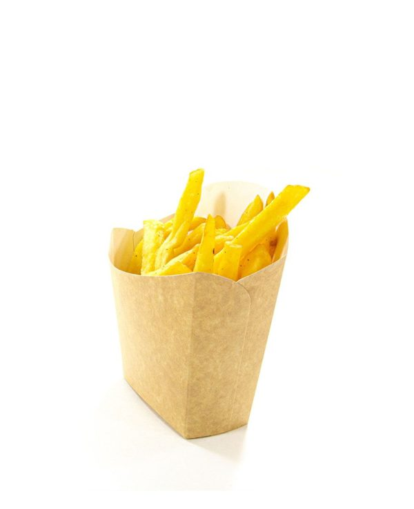 Pakiranje za pomfrit Fry Pack 100x45x110mm Kraft (35 kom/pak)