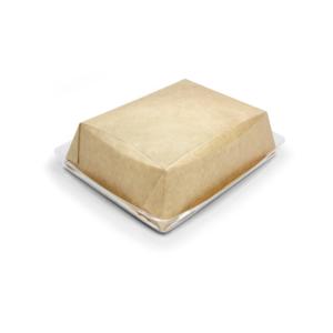 Posuda papirnata Crysatal Box 800 ml sa providni poklopcem 180х140х45 mm, kraft