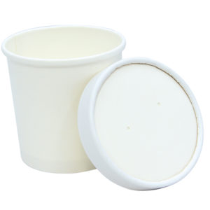Posuda papirnata za supu Tambien ECO 340 ml d-90mm, h-85mm, bijela sa poklopcem, 50 kom (komplet)