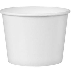 Posuda papirnata sa poklopcem 245ml d = 93 mm, h = 55 mm, bijela, 50 kom (komplet)